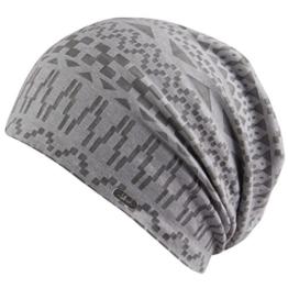 Mütze Dhaka Oversize Beanie Chillouts Sommermütze Oversize-Mütze (One Size - grau) -