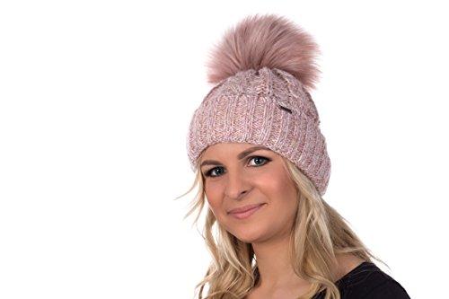 Mütze mit Bommel für Damen