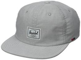 Mütze Kappe Albert Flatbrim Cap Herschel Cap Snapback Cap (One Size - grau) -