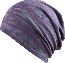 Mütze Toledo Oversize Beanie Chillouts Oversize-Mütze Baumwollmütze (One Size - lila) -