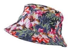myrtle beach Colourful Bucket Hat in flower/black Größe: L/XL -