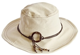 MYTEM-GEAR Damen Hut Sonnenhut Strandhut beige mit formbarer Krempe und Kordelband -