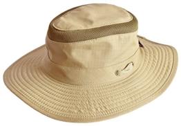 MYTEM-GEAR Herren Australierhut Buschhut Safarihut Mütze Hut Outdoor mit Kinnband und Netzeinsatz (60 cm, sand) -