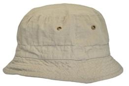 MYTEM-GEAR Ripstop Beanie Buschhut Hut Outdoor Sonnenhut Strandhut mit Luftlöchern (58 cm, khaki ) -