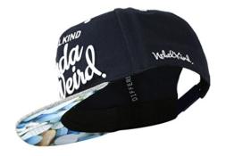 Nebelkind Snapback Cap dunkelblau mit verdrehtem Schirm onesize unisex -