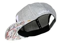 Nebelkind Snapback Cap grau mit Berliner U-Bahn Netz / Berlin Netzplan onesize unisex -