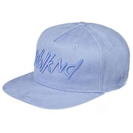 Nebelkind Snapback Cap hellblau Veloursleder mit Stickerei edel onesize unisex -