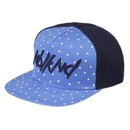 Nebelkind Snapback Cap hellblau blau gepunktet mit Stickerei edel onesize unisex -