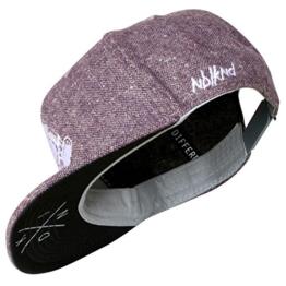 Nebelkind Snapback Cap rosameliert mit Stickerer edel onesize unisex -