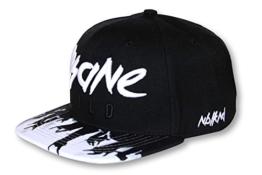 Nebelkind Snapback Cap schwarz-weiß Rock-Style onesize unisex -