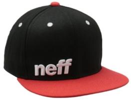 Neff Herren Schirmmütze Daily, Black/Red/White, One Size, VNF0101BLKRWHTO/S -