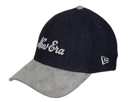 New Era 39Thirty Flexfit Cap - SUEDE VIZE navy - S/M -
