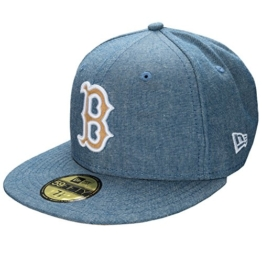 New Era 59Fifty Cap - CHAMSUEDE Boston Sox blau - 7 1/8 -