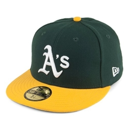 New Era 59FIFTY Oakland Athletics Baseball Cap - On Field MLB - Home - 7 1/4 -