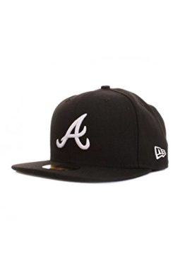 New Era 59Fiftys Cap - ATLANTA BRAVES - Black-White, Size:7 -