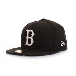 New Era 59Fiftys Cap - BOSTON RED SOX - Black-White, Size:7 -