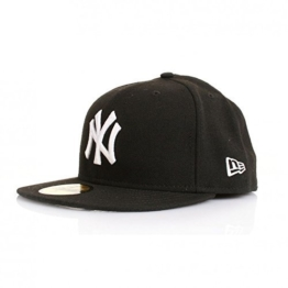 New Era 59Fiftys Cap - NY YANKEES - Black-White, Size:7 -