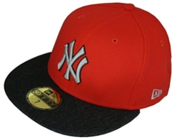 NEW ERA Baseball Cap 59FIFTY DIAMOND DENIM NEYYAN red black graphite Gr. 7 1/8 -