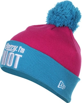 New Era Bommelmütze - SORRY I`M HOT - Bright Pink-Turquoise, Size:ONE SIZE -