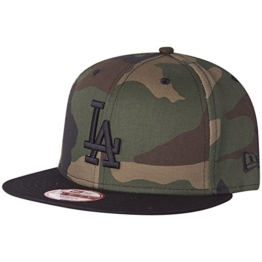 New Era Camo Crown 9Fifty Snapback LA DODGERS Camo Schwarz, Size:M/L -