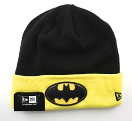 New Era Char Contrast Cuff Beanie - BATMAN - Black-Yellow, Size:ONE SIZE -