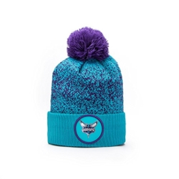 New Era Charlotte Hornets NBA '17 Pom Beanie Mütze, teal/dark purple -