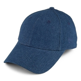 New Era Damen 9FORTY Denim Baseball Cap - Dunkelblau - Einstellbar -