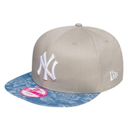 New Era Damen Caps / Snapback Cap Denim Bloom NY Yankees grau Verstellbar -