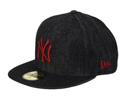 New Era Denim Fit Cap NY YANKEES Schwarz Rot, Size:7 -