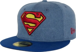 New Era Denim Hero Cap - SUPERMAN - Denim Blue-Royal, Size:7 1/4 -