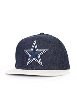 New Era Densuede Denim Cap - DALLAS COWBOYS - Denim Blue-White, Size:7 1/4 -