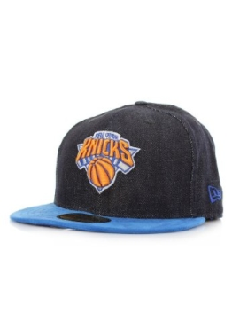 New Era Densuede Denim Cap - NY KNICKS - Blue-Royal, Size:7 1/8 -