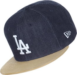 New Era Denuede Snapback - LA DODGERS - Denim Blue-Camel, Blau, Medium / Large -