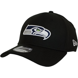 New Era Emea 39Thirty Cap SEATTLE SEAHAWKS Schwarz, Size:M/L -