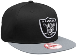 New Era Erwachsene Baseball Cap Mütze NFL 9 Fifty Block Oakland Raiders Snapback, Dark Captain Blue, S/M, 10879529 -