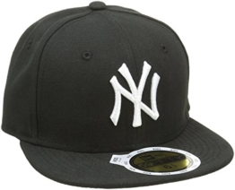 New Era Erwachsene Baseball Cap Mütze Kids Mlb Basic NY Yankees 59Fifty Fitted, Black/White, 634, 10879081 -