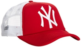 New Era Erwachsene Baseball Cap Mütze MLB Clean Trucker NY Yankees, Scarlet/White, One Size, 10531935 -