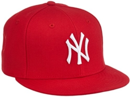 New Era Erwachsene Baseball Cap Mütze MLB Basic NY Yankees 59 Fifty Fitted, Scarlet/White, 6 1/2, 10879077 -
