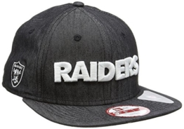 New Era Erwachsene Baseball Cap Mütze NFL Oakland Raiders Denim Original Fit 9Fifty, Black, S/M, 11148224 -