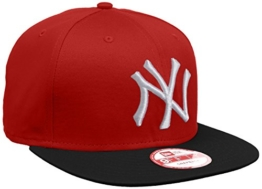 New Era Erwachsene Baseball Cap Mütze MLB 9 Fifty Block NY Yankees Snapback, Scarlet/Black/White, S/M, 10879530 -