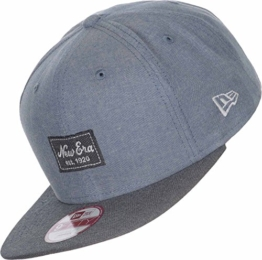 New Era Erwachsene Baseball Cap Mütze Two Tone Chambray Patch 9Fifty, Scarlet/Black, S/M, 11148165 -