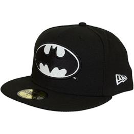 New Era GITD 59Fifty Cap BATMAN Schwarz, Size:7 1/4 -