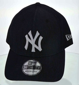 New Era Herren Flexfitted Cap Stretch Denim NY Yankees schwarz schwarz S/M -