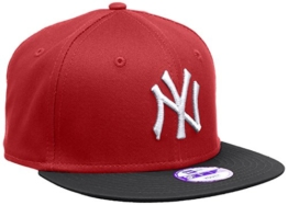 New Era Jungen Baseball Cap Mütze MLB 9 Fifty Block NY Yankees Snapback Rot (Scarlet/Black), One size, 10880041 -