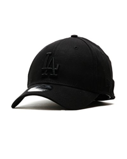 New Era League Essential 39Thirty Cap LA DODGERS Schwarz Schwarz, Size:L/XL -
