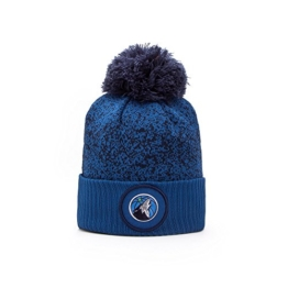 New Era Minnesota Timberwolves NBA '17 Pom Beanie Mütze, midnight blue -
