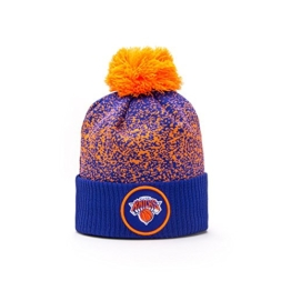 New Era New York Knicks NBA '17 Pom Beanie Mütze, blue/orange -