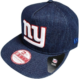New Era NFL Denim Snapback - NY GIANTS - Denim Blue, Size:S/M -