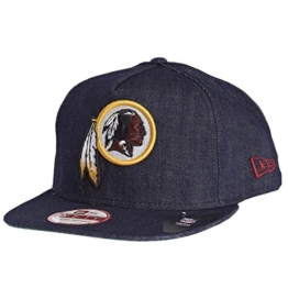 New Era NFL Denim Snapback - WASHINGTON REDSKINS - Denim Blue, Size:S/M -