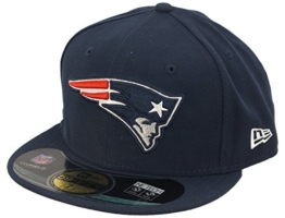 New Era NFL On Field Cap - NEW ENGLAND PATRIOTS - Blue, Size:7 3/8 -